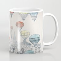 house Mugs featuring Voyages over Edinburgh by David Fleck