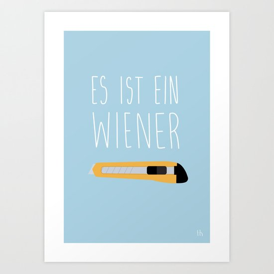 The Wiener Schnitzel Fail Art Print