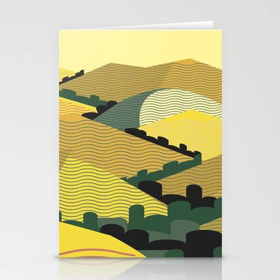 California Hills Stationery Cards