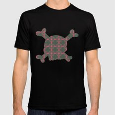 pattern with skull Mens Fitted Tee Black MEDIUM