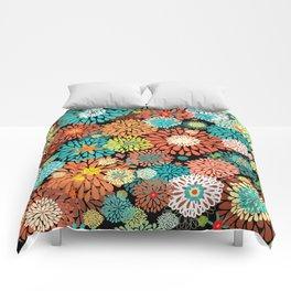 Floral firework Comforters