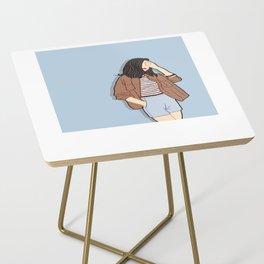 Feeling Blue - OOTD - Fashion Style Art Side Table