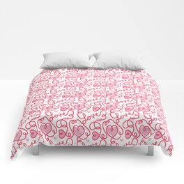 One Love One Line Pattern Comforters