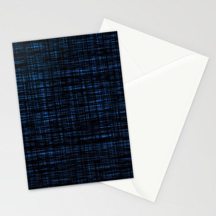 platno (black and blue) Stationery Cards