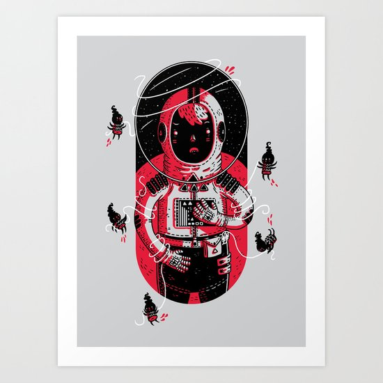 Gulliver's Space Travels Art Print