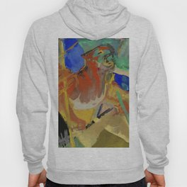 """Franz Marc """"Tiger in the Jungle"""" Hoody"""