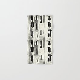 Minimal Black and Cream Abstract Design Hand & Bath Towel