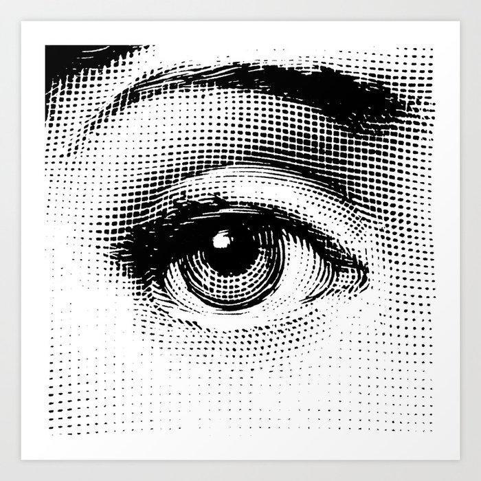 Lina Cavalieri - right eye Kunstdrucke