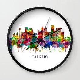 Calgary Canada Skyline Wall Clock