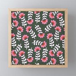Camelita Retro Folk Flower Framed Mini Art Print