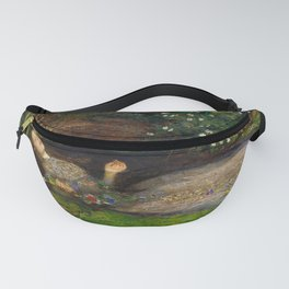 Ophelia from Hamlet Oil Painting by Sir John Everett Millais Fanny Pack