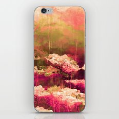 IT'S A ROSE COLORED LIFE 2 - Colorful Floral Garden Chic Abstract Pink White Olive Green Painting iPhone & iPod Skin