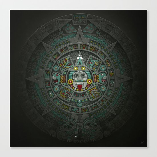 Stone of the Sun II. Canvas Print