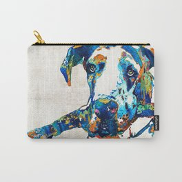 Great Dane Art - Stick With Me - By Sharon Cummings Carry-All Pouch