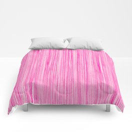 Luscious Lollypop Pink Striped Candy Design Comforters