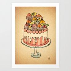Cake Town Art Print