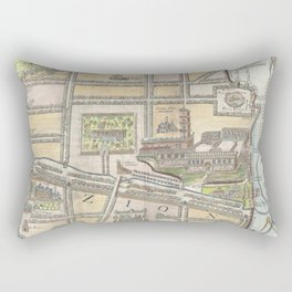 Old 1650 Historic State of Palestine Jerusalem Zion Map Rectangular Pillow