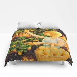 Space fruit Comforters