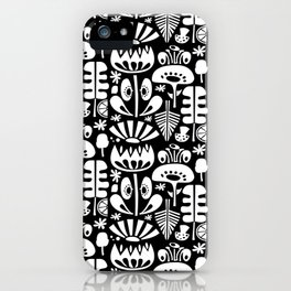 MCM Scandi Flowers White iPhone Case