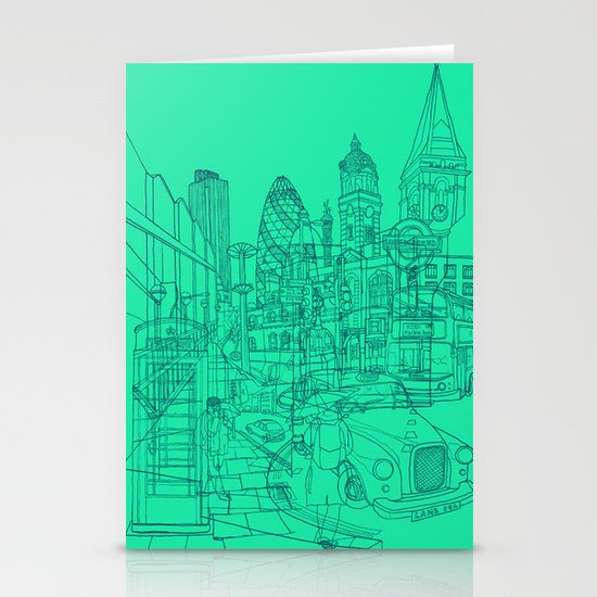 London! Mint Stationery Cards