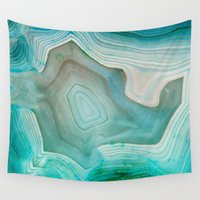 history Wall Tapestries featuring THE BEAUTY OF MINERALS 2 by Catspaws