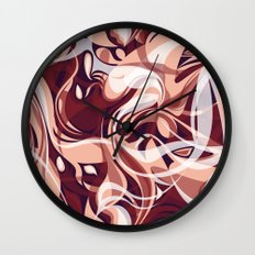 Marsala Shake Wall Clock