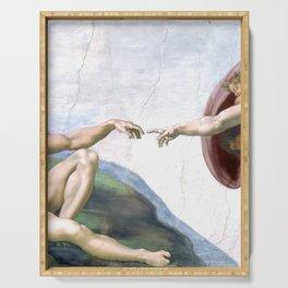 Michelangelo - Creation of Adam - Sistine Chapel - Artwork Serving Tray