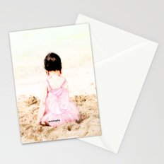 Baby at Beach Stationery Cards