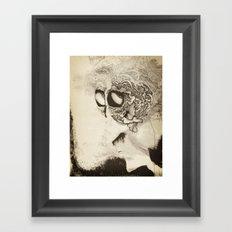 by-by brain Framed Art Print