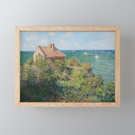 Fisherman's Cottage at Varengeville by Claude Monet Framed Mini Art Print
