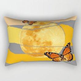 MOON & MONARCH BUTTERFLIES DESERT SKY ABSTRACT ART Rectangular Pillow