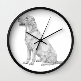Labrador retriever Yellow Wall Clock
