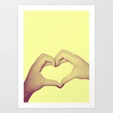 Heart Hand Art Print