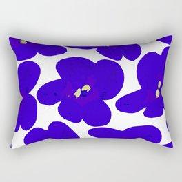 Blue Retro Flowers #decor #society6 #buyart Rectangular Pillow