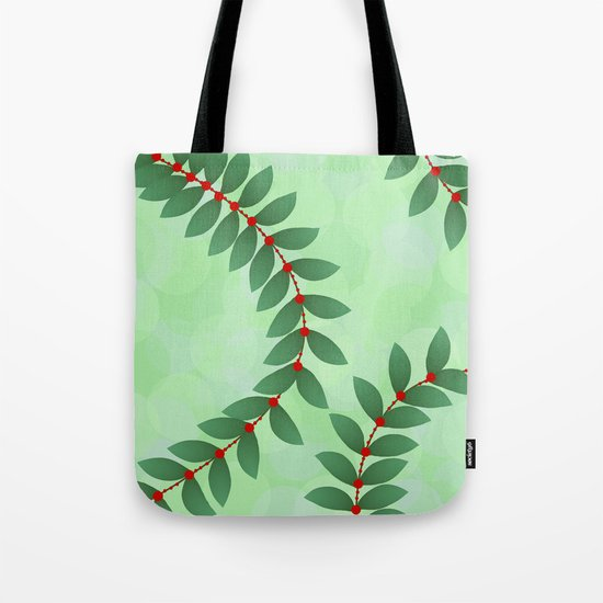 Delicate Holiday Foliage Tote Bag