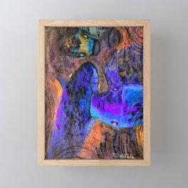 Little Koi Blue Framed Mini Art Print