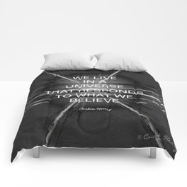 We Live In A Universe Quote - Society6 - Art - Luxury - Comforter - Bedding - Throw Pillows - Laptop Comforters