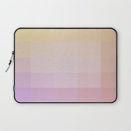 Pixel Gradient between Soft Yellow and Grayish Red Laptop Sleeve