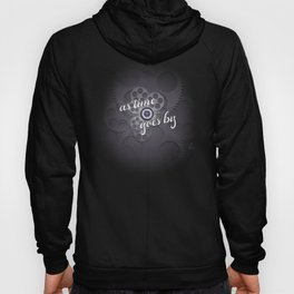 """""""As Time Goes By"""" - black and white vector artwork Hoody"""