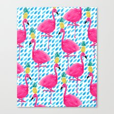 Party Flamingos Canvas Print