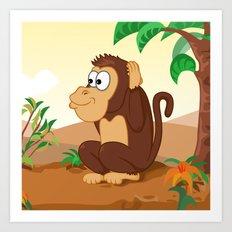 Three wise monkeys 3/3 Art Print