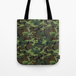 Green and Brown Camouflage Pattern Tote Bag