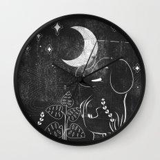 Elephant and Moon Wall Clock