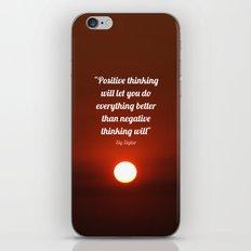 Positive Thinking  iPhone & iPod Skin