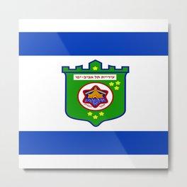 flag of tel aviv Metal Print