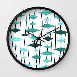 Retro Atomic Age Art Diamonds 2 Wall Clock