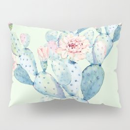 Rose Desert Cactus Mint Green + Pink by Nature Magick Pillow Sham