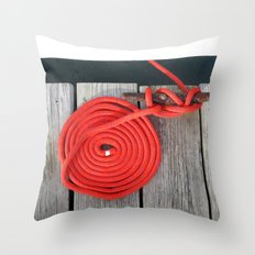 Red Rope Throw Pillow