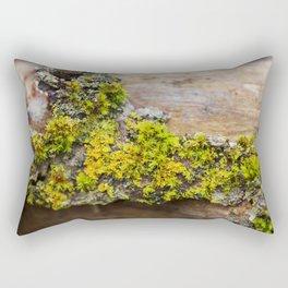 Moss on a Fallen Tree Rectangular Pillow