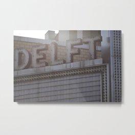 Vintage DELFT Marquee Decay Urban America Metal Print
